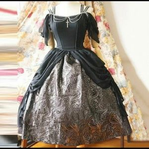 Women Vintage Dress Medieval Renaissance Lolita